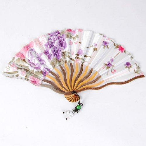 ethahe Chinesisch Faltbar Handfächer Fächer Blumen Kunst