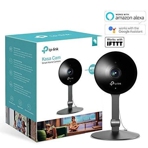 TP-Link KC120 Caméra Kasa 1080P HD, caméra surveillance wifi avec Détection de Mouvement, Alertes instantanées, Audio Bidirectionnel et Vision Nocturne pour Maison/Bébé/Animaux de Compagnie