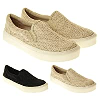 Rocket Dog Womens Canvas Slip On Plimsoll Trainers