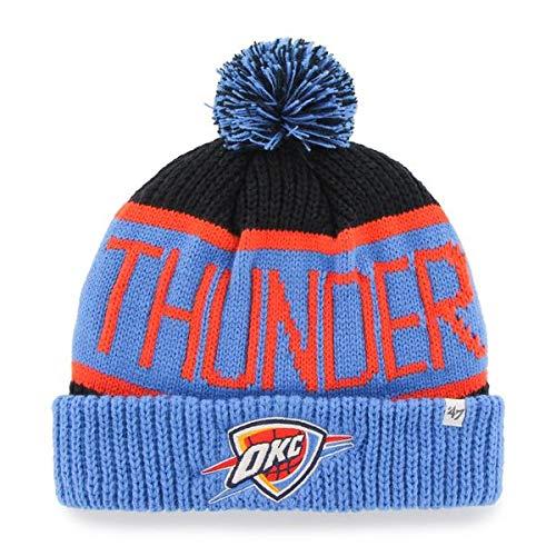 f Beanie Mütze POM POM - NBA Cuffed Knit Cap, Herren, OKC Thunder ()