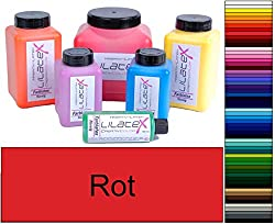 Lilatex 1 Liter farbiges dickflüssiges Flüssiglatex/Farblatex/Latexmilch - dickflüssiges Naturlatex (Rot)
