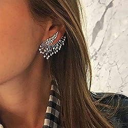 Jovono - Pendientes bohemios con diamantes de imitación para mujeres y niñas (1pcs)