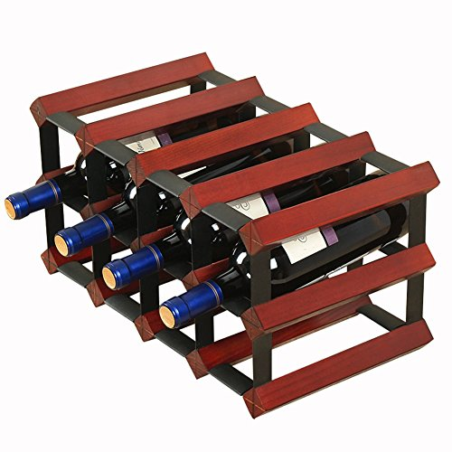 Weinregale Yixin 15 Flasche 4x2 Naturkiefer verzinktem Stahl bereit zu montieren (Farbe : B)