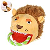 FOONEE Hai-Handpuppe aus Plüsch, langlebig, interaktives Spielzeug für Hunde löwe