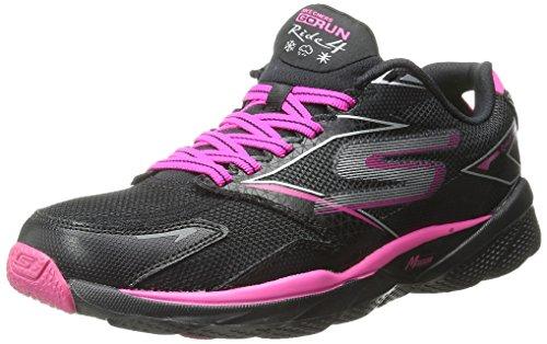 Skechers Go Run Ride 4, Chaussures de sport femme Black/Hot Pink