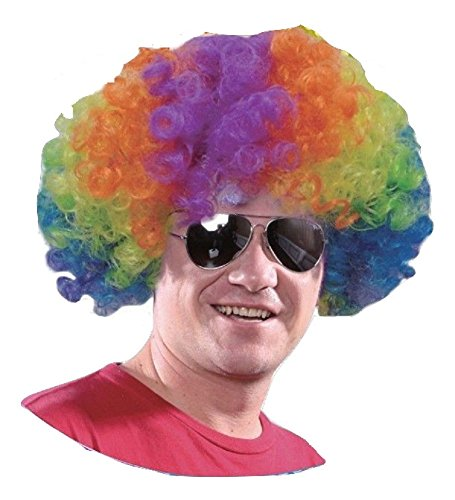 Herren Damen Regenbogen Multi Color Pride Kostüm Kostüm - Pick & Mix (Eine Grösse passt allen, (Farbige Perücken Afro)