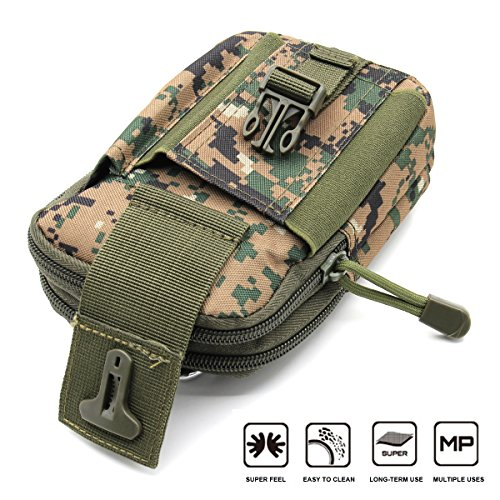 Aodoor Outdoor Reisen Sport Taktische Tasche Bauchtasche, Gürteltasche Handytasche Tasche Waist Bag-Multifunktional für Camping Reise Wandern(Braun