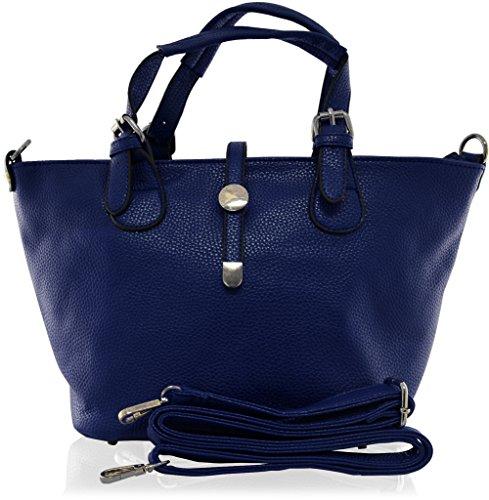 KUKUBIRD simili cuir de qualité V SHAPE FAUX CUIR DESIGNER sac à main dames OXFORD BLUE