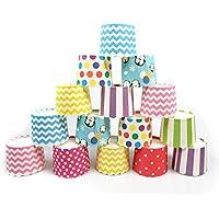 Keysui Moldes de papel para magdalenas, 100unidades, varios colores, ideales para fiestas y celebraciones