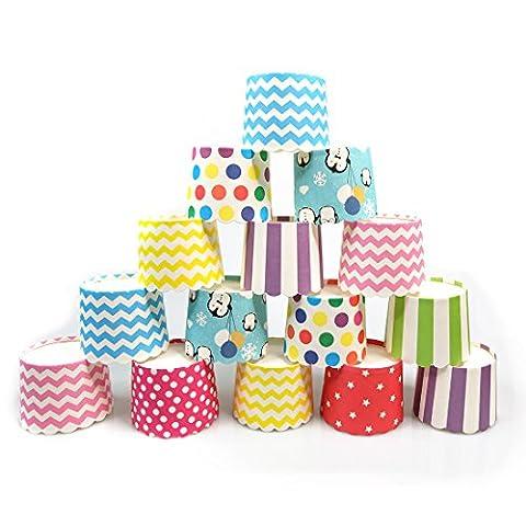 Keysui 100 Pcs Caissettes A Cupcake Papier Pour Muffins Gateau Moule Decoration cupcakes en papier pour soirée de mariage Cuisine Baking Dessert bricolage anniversaire-couleur aléatoire