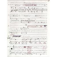 Cuadro sobre lienzo 60 x 80 cm: Page of musical manuscript by Claude Debussy de Bridgeman Images - cuadro terminado, cuadro sobre bastidor, lámina terminada sobre lienzo auténtico, impresión en lie...
