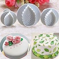 nicebuty forma de hoja Fondant Decoración de Pasteles Herramientas Cupcake Kitchen