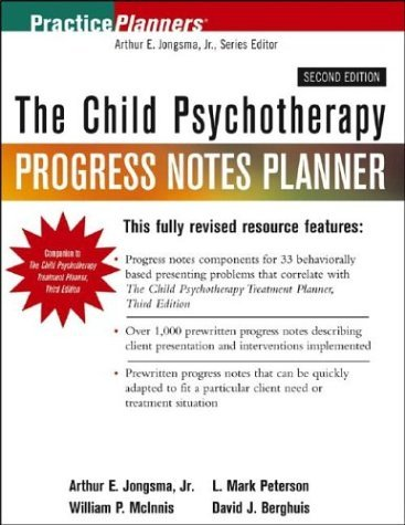 The Child Psychotherapy Progress Notes Planner (PracticePlanners) by Arthur E. Jongsma (2003-10-23)