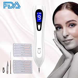 Mole Removal Pen,Mobengo Professional Skin Tag Remover Kit Cauterizing Pen for Body Facial Freckle Nevus Warts Age Spot Tattoo Remover with USB Rechargeable LCD Display Safe 9 Strength Levels