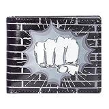 Shagwear Herren Geldbörse, Mens Wallet: Verschiedene Farben und Designs:, Faustschlag,schwarz/ Fist Punch, Large