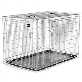 zoomundo Altezza XXL Gabbia Metallo Pieghevole per Cani Viaggio Cucciolo Gabbia Animali Trasportino Richiudibile 2 Porte…