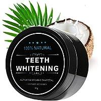 Blanchiment dentaire IWOTOU, Poudre de charbon blanchissante, Poudre de blanchiment au charbon actif naturel,...