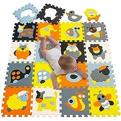 Alfombra Puzzle para Bebe Goma EVA Suave 142 x 114 cm