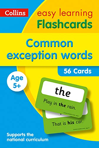 Common Exception Words Flashcards: fun games and activity ideas for common exception words (Collins Easy Learning KS1)