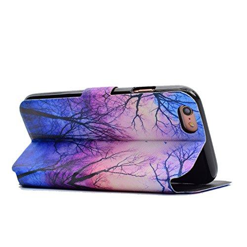 iPhone 6 Plus/6S Plus Coque, Voguecase Étui en cuir synthétique chic avec fonction support pratique pour Apple iPhone 6 Plus/6S Plus 5.5 (Red Fox 04)de Gratuit stylet l'écran aléatoire universelle Un grand arbre 01