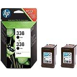 HP 338 - 2-pack Black Inkjet Print Cartridges (CB331EE)