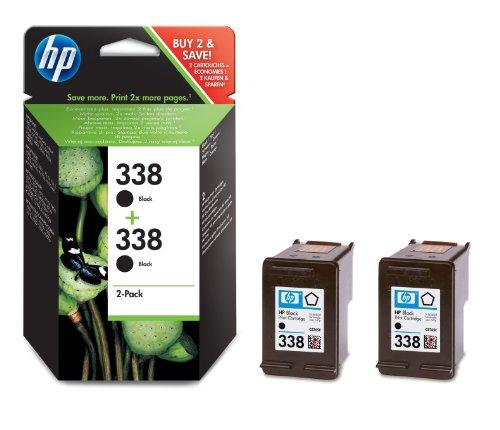 HP 338 Multipack Original Druckerpatrone (2x Schwarz) für HP Deskjet, HP Officejet,...