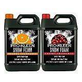 5Liter Kleen Professional Cherry Schnee Schaumstoff + 5Liter Orange Schnee Schaum mit Wachs