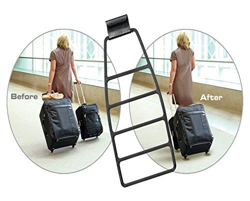 Club Glove Train Reaction Device Black - Koffer Verbundsystem für Reisetrolleys, Reisetaschen, Koffer, Gepäck, (Trolley Strap) -