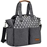 Best Baby Diaper Bags - Lekebaby Baby Nappy Changing Bag Satchel Messenger Large Review
