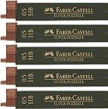 5er Sparpack Faber Castell SUPER-POLYMER Feinminen 0.5HB