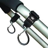 Think King Clippy Hook for Stroller, Wheelchair, Rollator, Walker, Black