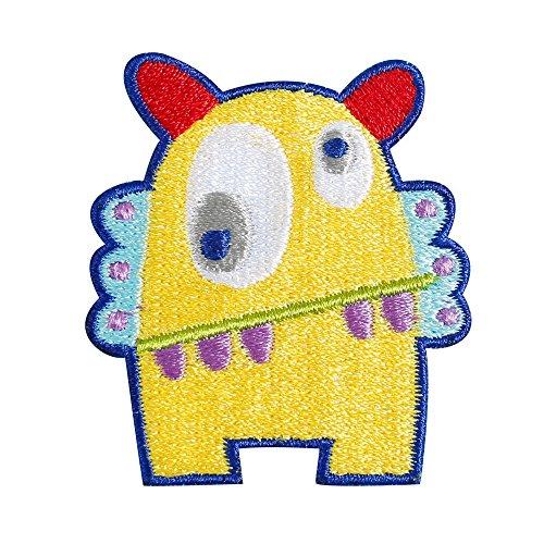 GRT Stickerei cartoon Monster Brosche Pin Pin Abzeichen lustige nette Pin Hemd Röcklein Schmuck Sommer-Thema für T-Shirt Jeans Kleidung Taschen für Kinder Baby