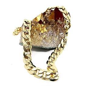 Riveting Jewelry Collana oro 9MM 24 K gioielli diamante taglio chiusura solida Miami Cuban Link Hip Hop vero regalo