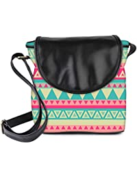 Snoogg Aztec Pink Womens Sling Bag Small Size Tote Bag
