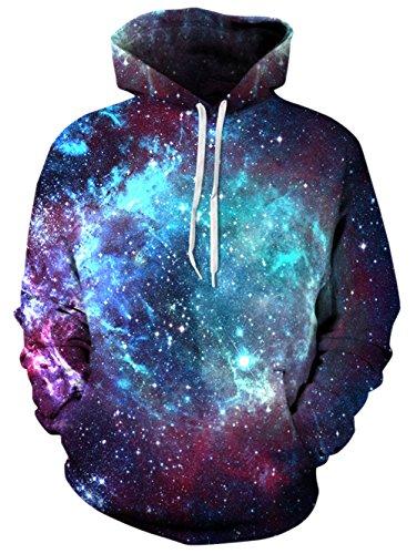 Bfustyle 3D Gedruckt Hoodie Neuheit Galaxy Pullover für Herren Damen Damen Unisex Sweatshirt Pullover mit Großer Tasche