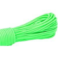 PRECORN Paracord corda neon verde brilla nel buio corda sopravvivenza paracadute cavo 550 lbs 31m