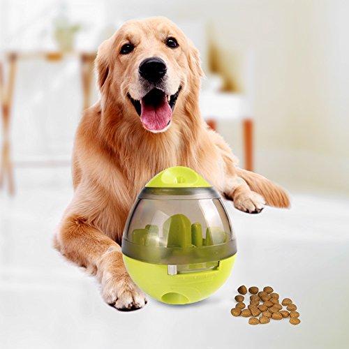 G-TEXNIK Hundespielzeug Ball Tumbler Spielzeug für Haustiere Hunde Spielzeug Training Interaktives Hundespielball Leckerli-Spender Snackball Gegen Langeweile für Hunde und Welpen (Grün)