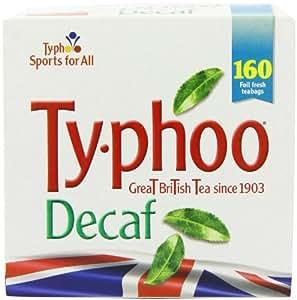 Typhoo 160 Decaf Tea Teabags ( Pack of 6, Total 960 Teabags )