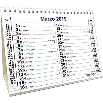 Calendario Novembre 2020 Con Santi.Calendario 2019 Olandese 14 Fogli Uno Per Ogni Mese 20x15 Cm Da Tavolo Per Ufficio Casa E Lavoro Con Santi E Lune