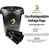#3: Garbage Bags Biodegradable Medium Size for Home,Office,Premium Black (48 cm x 56 cm),Biodegradable Garbage Bags/Trash bags/Dustbin bags/100% biodegradable tested garbage bags (180 bags) by NATUREPAC.
