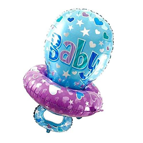 (Sharplace Baby Schnuller Folienballons - Bunte Luftsballons für Geburtstag Jubiläum - Blau, 45 x 75 cm)