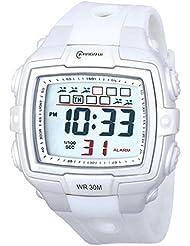 Montre Concept - Montre digital Homme - bracelet Plastique Blanc - Cadran Rond Fond Gris - Marque Mingrui - MR8012-BLANC