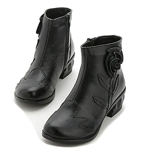 XTIAN , Bottes et bottines cowboy femme Schwarz