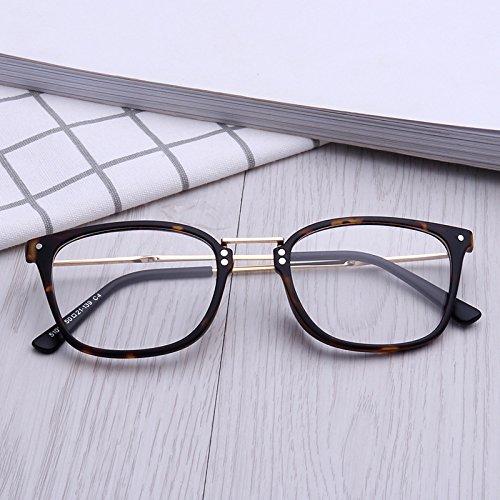 Neue Leichte Tr90 Rahmen Retro-Schlichte Glas Spiegel 90 Holz Edelstahl Metall Brillengestell 51013 , A