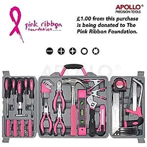 Apollo de 71 pièces-Rose-Kit d'outillage pour la maison