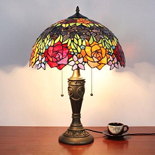 Antik Korn (HDO 16 Zoll-Rosen-Korn-antike Luxux tiffany-Art-handgemachte Glas-Tabellen-Lampen-Nachttisch-Raum-Kinderlicht)