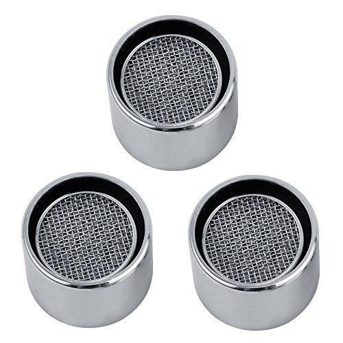 KES Utility und Küchenarmatur Ersatzteil 22mm Weiblich Gewinde Messing Gehäuse Luftsprudler mit Dichtung 3PCS PACK, chrom poliert, pa2a-p3 -