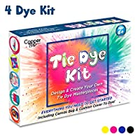 Tie Dye Kit With Plain Cushion Cover And Canvas Bag, Vibrant Tie Dye Paint Colours And Lots of Tie Dye Techniques. Our Tye Dye Kits Make The Perfect Craft Kits For Kids and Adults To Enjoy