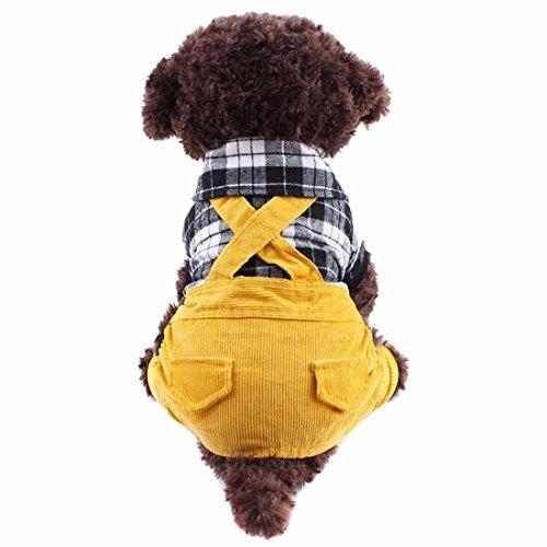 QIYUN.Z Hund, Katze, Adrette Plaid Baumwollspielanzug Rot/Schwarz Pet-Bekleidung Kleidung (Adrette Kostüm)