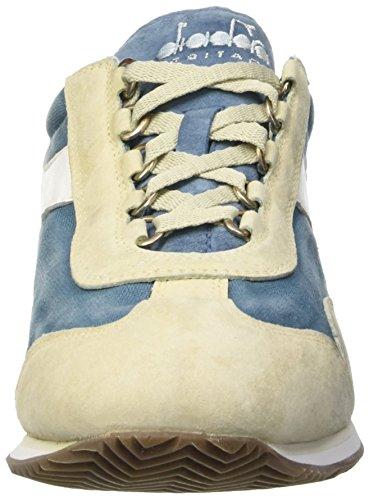 Diadora Unisex-Erwachsene Equipe Stone Wash 12 Sneaker Blau / Beige